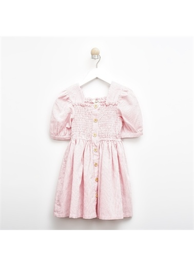 Panço Kız Çocuk Elbise 2011GK26039 Pembe